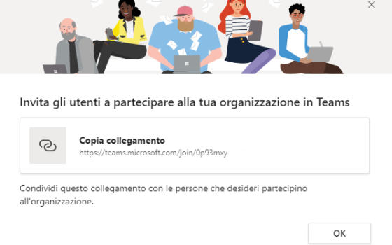 Microsoft Teams: invito
