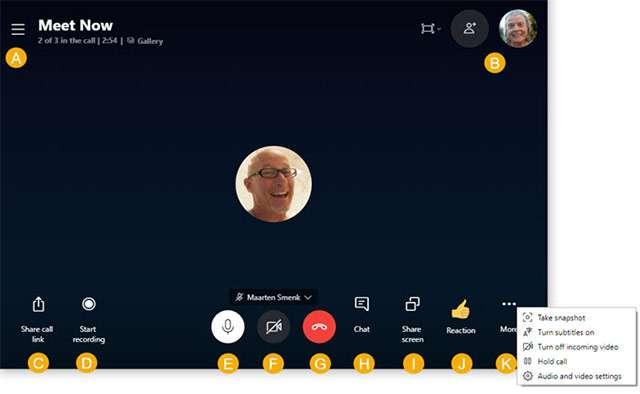 Skype: la funzionalità Meet Now
