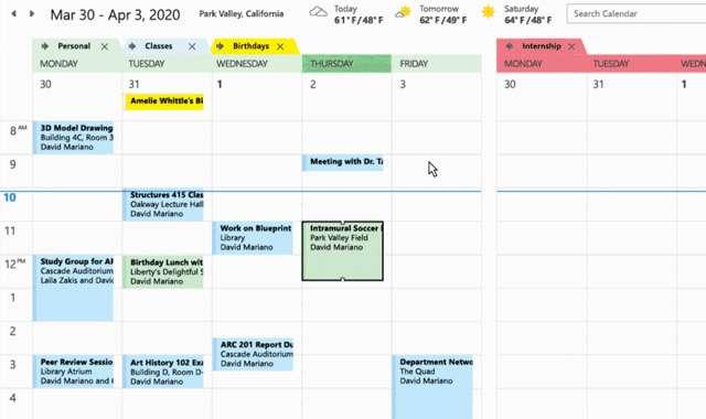 Outlook: la gestione dei calendari