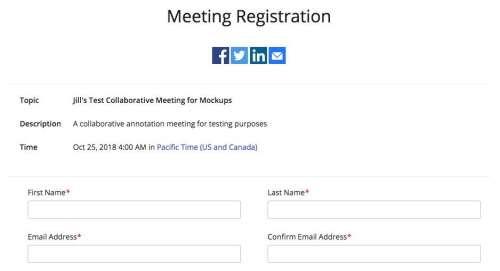zoom: meeting registration