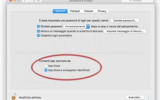 Installazione su MacOS