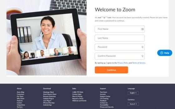 Registrazione Zoom