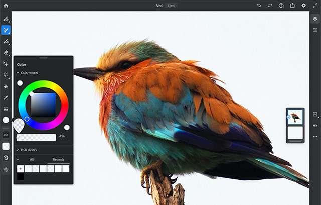 Adobe Photoshop e Fresco insieme su iPad