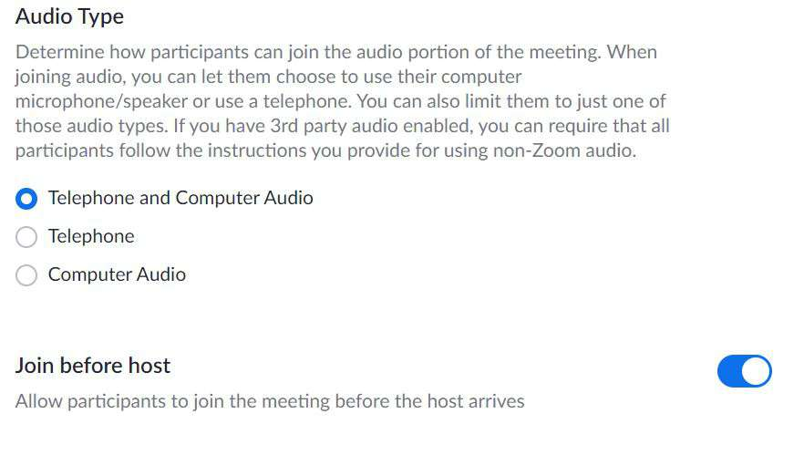 Audio Type Zoom