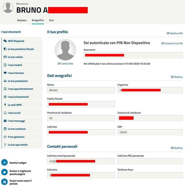 I dati di decine di persone in chiaro e modificabili sul sito INPS, mostrati a chi fa richiesta del bonus di 600 euro