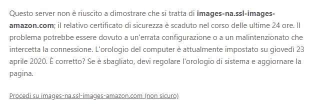 Certificato scaduto su server Amazon