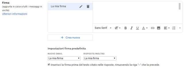 Come modificare la firma su Gmail