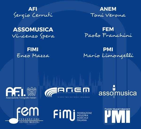 AFI, ANEM, Assomusica, FEM, FIMI, PMI