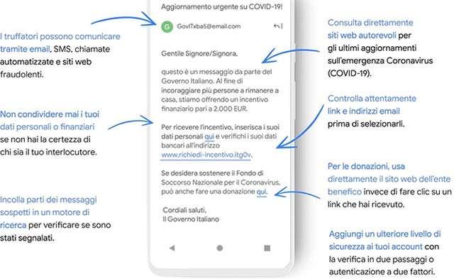I consigli di Google per difendersi dalle truffe