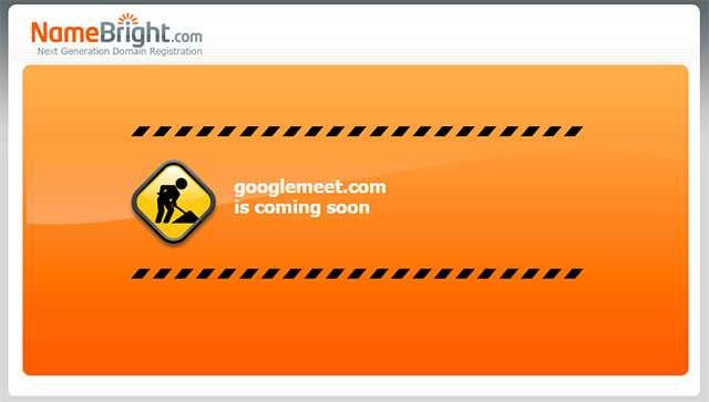 La homepage del dominio GoogleMeet.com