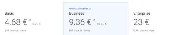 Google Suite: i prezzi