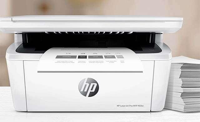 La stampante HP LaserJet Pro MFP M28a