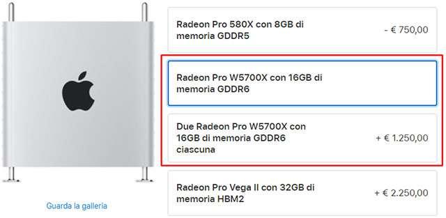 Le nuove opzioni per le schede video di Mac Pro