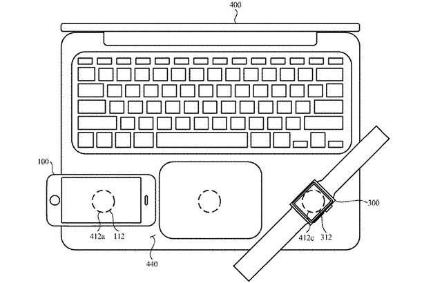 Una delle immagini incluse nel brevetto depositato da Apple