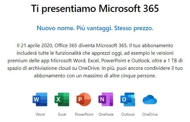 Microsoft avvisa gli utenti Office 365