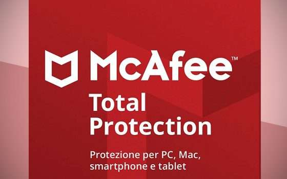 La sicurezza di McAfee in offerta da 10,99 euro