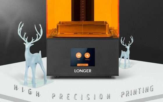 Stampante 3D a resina: LONGER Orange10 a 210 euro
