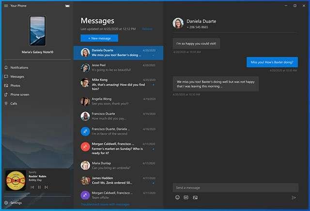 Novità per l'app Il Tuo Telefono di Windows 10