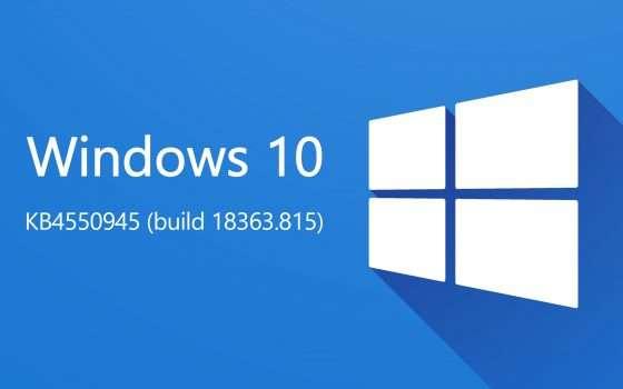 Windows 10: KB4550945 per correggere i problemi