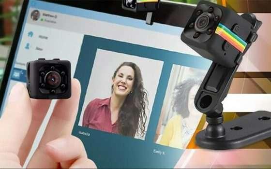 Mini-webcam per Skype, Zoom e Meet a 27,99 euro