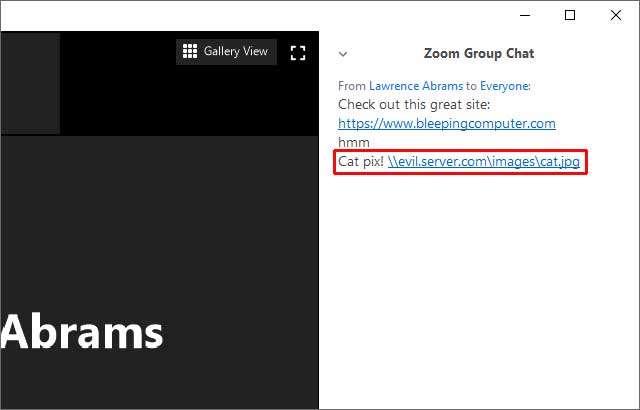 Zoom: UNC Path Injection per rubare la password di Windows