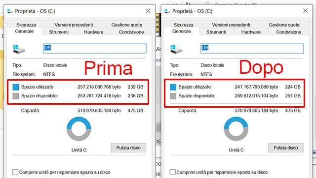 Windows 10 May 2020 Update: come liberare spazio dopo l'aggiornamento