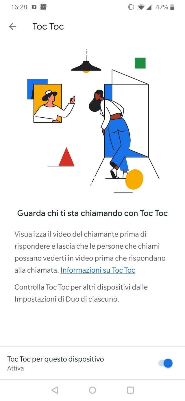funzione Toc Toc