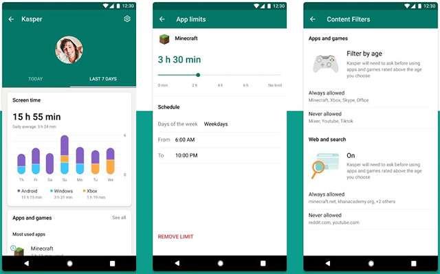 Screenshot per l'applicazione Family Safety
