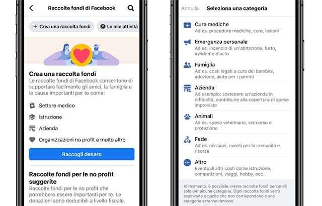 Le raccolte fondi per le imprese su Facebook