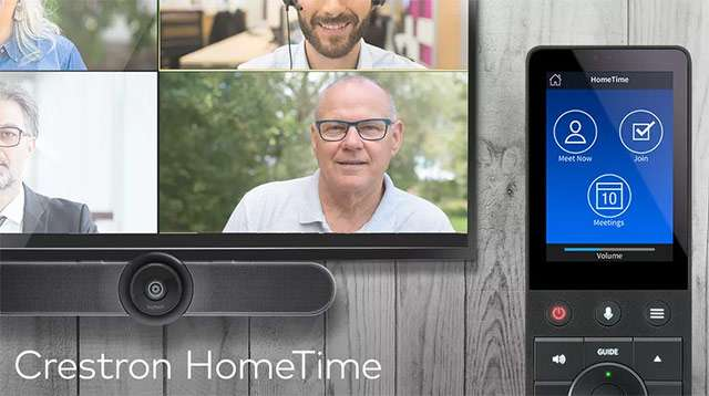 Creston HomeTime: webcam, televisore e telecomando