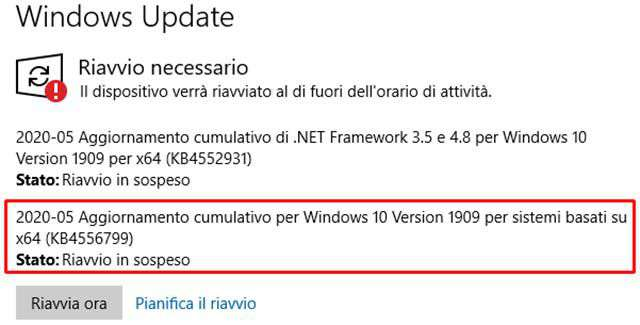 L'aggiornamento KB4556799 per Windows 10 è in fase di rollout