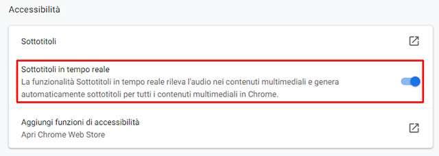Live Caption: i sottotitoli in tempo reale per la versione desktop di Chrome