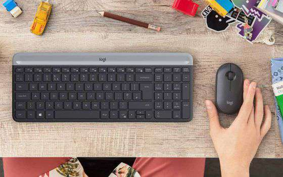 Offerte Amazon: kit Logitech MK470 wireless a -27%