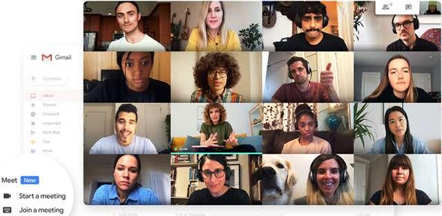 L'interfaccia di Google Meet per le videoconferenze