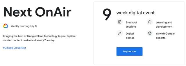 Google Cloud Next '20 OnAir