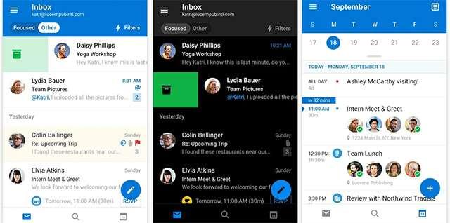 L'applicazione Android di Outlook