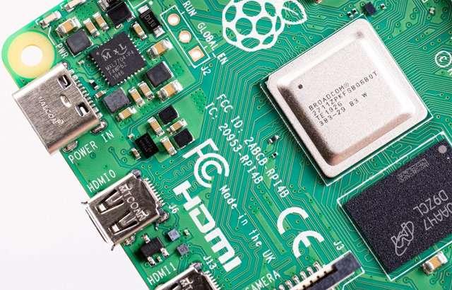 Un dettaglio della scheda Raspberry Pi 4 da 8 GB