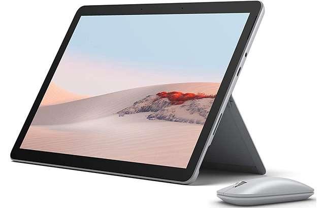 Il tablet Surface Go 2 e il Surface Mouse