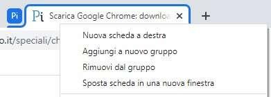 Come raggruppare le tab su Google Chrome