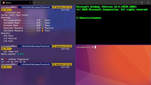 L'interfaccia di Windows Terminal