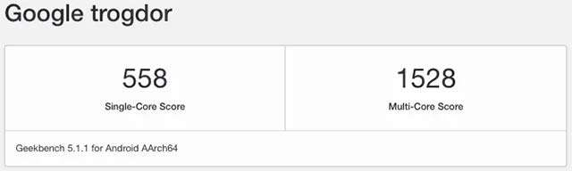 Il nuovo Chromebook di Google, nome in codice Trogdor, avvistato su Geekbench