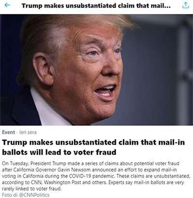 Il chiarimento di Twitter sul post di Trump
