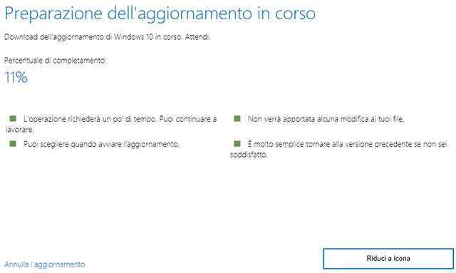 L'aggiornamento di Windows 10 al May 2020 Update