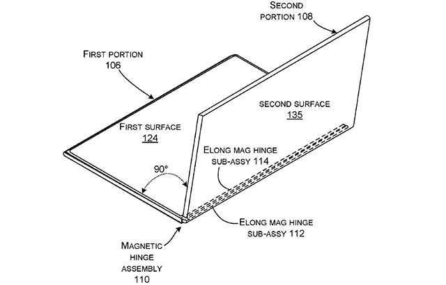Il dual screen modulare descritto nel brevetto Microsoft