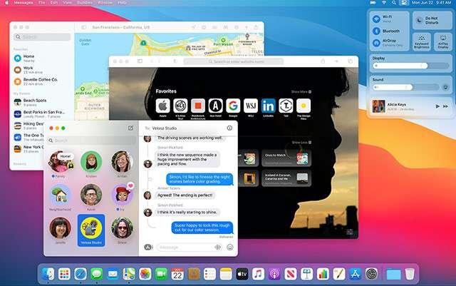 L'interfaccia di macOS 11 Big Sur