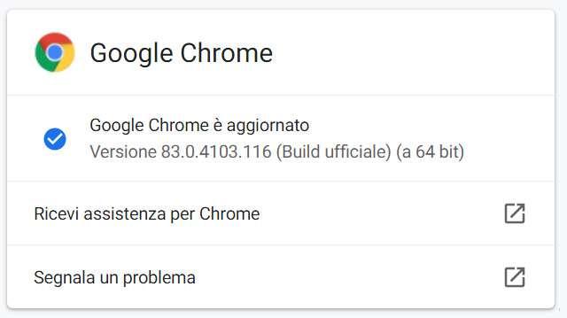 La versione 83 di Chrome ora disponibile su Windows, macOS e Linux