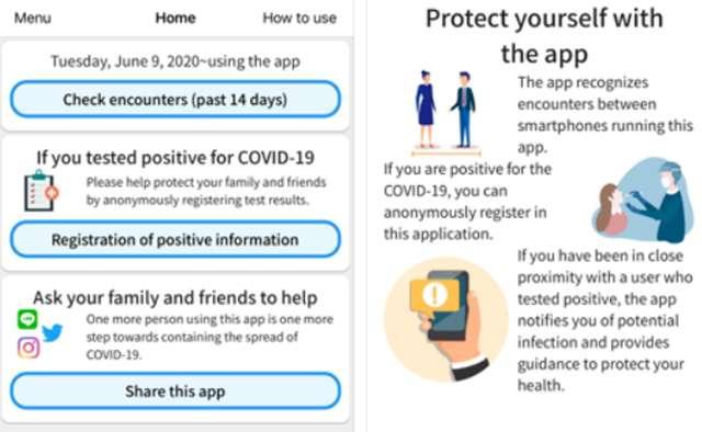 COCOA è l'app del Giappone per il contact tracing