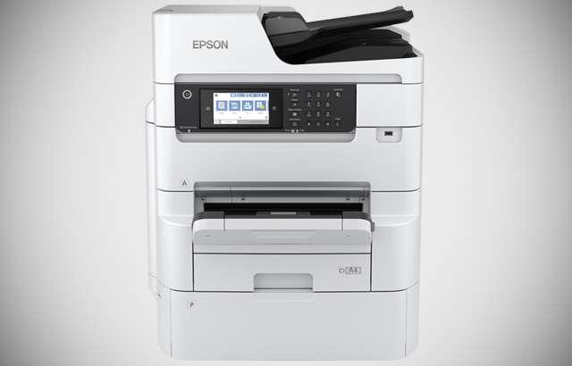 La stampante multifunzione Epson WorkForce Pro RIPS WF-C879R per l'ufficio