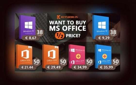 Office e Windows 10 al prezzo più basso: solo 8,67€