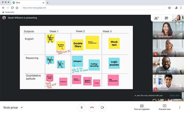 Google Meet: una lavagna collaborativa per le classi